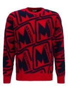 Moncler Allover Logo Sweater - Red