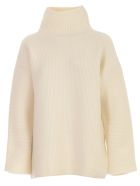 Jacquemus Le Maille Agde Sweater High Neck W/ribs - White