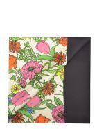 Gucci Silk Foulard With Flora Logo Print - Multicolour