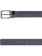 Emporio Armani Reversible Leather Belt - blue