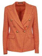 Tagliatore Orange Double-breasted Jacket - Orange