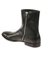 Alexander McQueen Side Zip Ankle Boots - Black