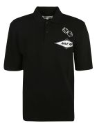 Alexander McQueen Initials Logo Print Polo Shirt - Black