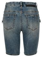 Ben Taverniti Unravel Project Unravel Laced Denim Shorts - LIGHT BLUE