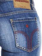 Dsquared2 'jennifer Cropped' Jeans - Blue