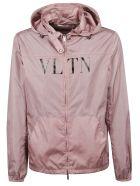 Valentino Hooded Logo Jacket - Rosa