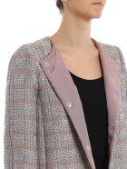 Emporio Armani Long Tweed Coat - Multicolour