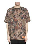 HERON PRESTON Public Figure Camouflage Cotton T-shirt - Verde