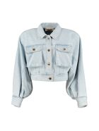 Alberta Ferretti Cropped Denim Jacket - Denim