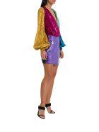 ATTICO Colorblock Mini Wrap-dress - Multicolor