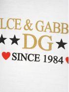 Dolce & Gabbana Dolce&gabbana Dolce & Gabbana Logo Print T-shirt - WHITE