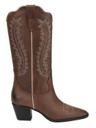 Paris Texas Camperos Boots - Dark brown/gess