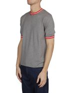 Eleventy Striped Detail T-shirt - Gray