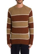 Ami Alexandre Mattiussi Striped Sweater - Marrone