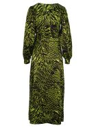 Ganni Tiger Print Dress - LIME TIGER