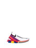 Dolce & Gabbana Sorrento Slip-on Sneakers In Stretch Knit - Multicolor