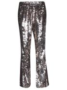 Faith Connexion Sequined Flared Trousers - Cuivre