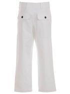 Jejia Camille Pants W/lace - Bianco