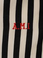 Ami Alexandre Mattiussi Striped Shirt L/s W/embroidered Logo - Black Off White