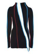 AMBUSH Ribbed Knit Long Top - Multicolor