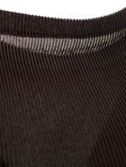 Pleats Please Issey Miyake Top W/s Crew Neck - Charcoal Brown