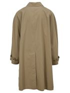Balenciaga Oversized Trench Coat - BEIGE