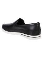Prada Linea Rossa Sneaker Slip-on Saint Tropez - Nero/bianco