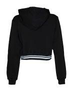 GCDS Logo Cropped Sweatshirt - Black