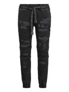 Philipp Plein Denim Jogging Pants - black