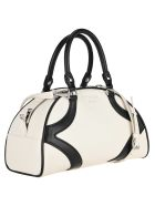 Prada Bicolour Bowling Bag - WHITE + BLACK