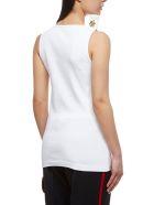 Calvin Klein Embellished Graphic Top - Bianco multicolor