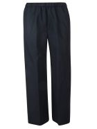 Aspesi Wide Cropped Trousers - Blue