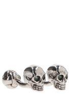 Alexander McQueen 'twin Skulls' Cuffs - Silver