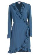 Be Blumarine Dress W/s W/rouches - Celeste
