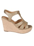Michael Kors Berkley Wedge Sandals - Beige