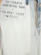 Ben Taverniti Unravel Project Unravel Tulle Layered Mini Denim Skirt - BLUE + WHITE