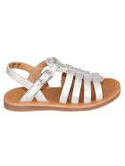 Pom d'Api Plagette Strap Sandals - Silver/Brown