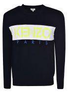 Kenzo Logo Embroidered Sweatshirt - Navy