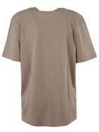 Saint Laurent Stars And Logo Print T-shirt - Taupe chine/gold