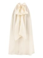 Zimmermann Scarf Collar Silk Blouse - White
