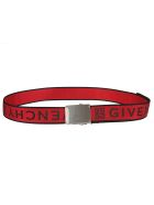 Givenchy Logo Belt - Black/red