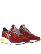 Golden Goose Red Suede Sneakers - Red