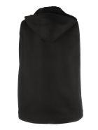Saint Laurent Longue Duffle Cape Hoodie/sheerling Zip - Noir