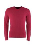Drumohr Cotton-blend Crew-neck Sweater - Fuchsia