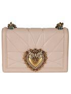 Dolce & Gabbana Logo Plaque Mini Shoulder Bag - powder