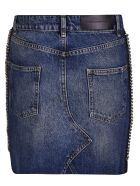 Victoria Beckham Chain Trim Skirt - Ocean