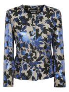 Moschino Floral Print Jacket - Blue/White/Green