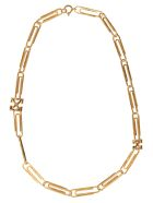 Off-White Paperclip Necklace - Gold