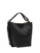 Givenchy Grained Leather Gv Mini Bucket - Nero