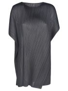 Pleats Please Issey Miyake Motion Colors Long Shirt - Black